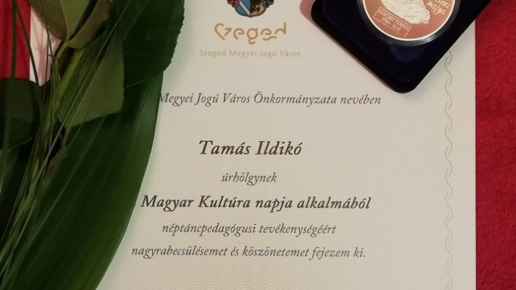 Kölcsey-érmet kapott Tamás Ildikó táncpedagógus kolléganőnk!