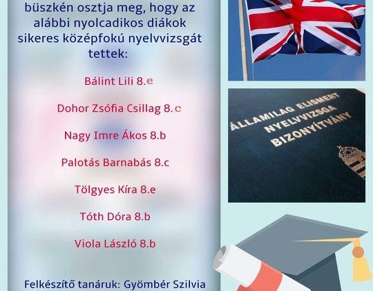Hét sikeres középfokú nyelvvizsga