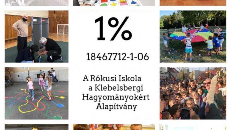 Köszönettel fogadjuk az 1%-os felajánlásokat!